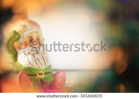 Santa Claus, Christmas Background with Copy space for texts. - stock photo