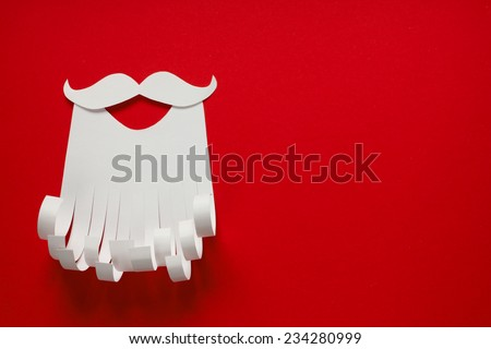 Santa Claus Christmas conceptual paper background with copy space - stock photo