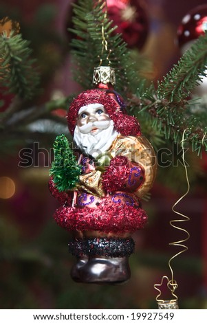 Santa Claus Christmas tree decoration - stock photo