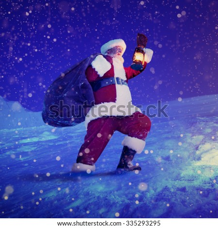 Santa Claus Christmas Tree Gifts Christmas Concept