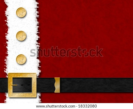 Santa Claus Coat & Belt - stock photo