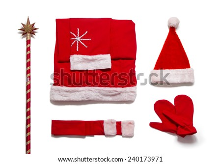Santa Claus costume. Clothing Santa Claus - stock photo