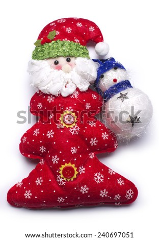 Santa Claus doll isolated on white background - stock photo