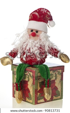 Santa Claus doll on a white background