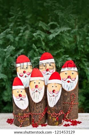 Santa Claus Family - stock photo