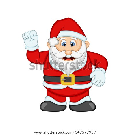 Santa Claus For Your Design Illustration