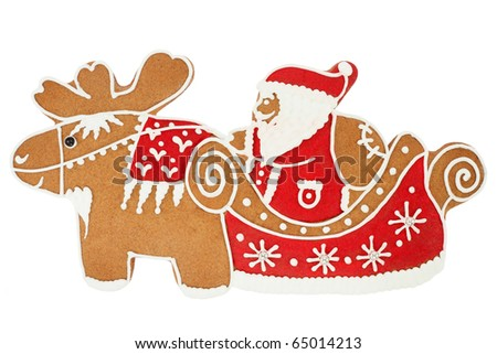 Santa Claus gingerbread - stock photo