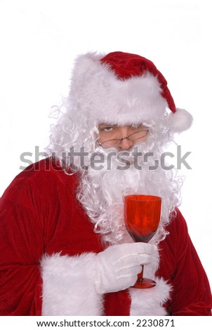 Santa Claus has had way to many elf martinis - stock photo