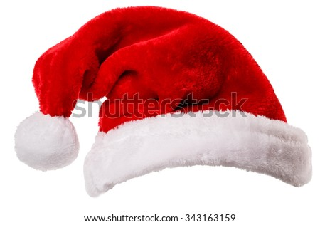 Santa Claus hat Isolated on white background Clipping Path