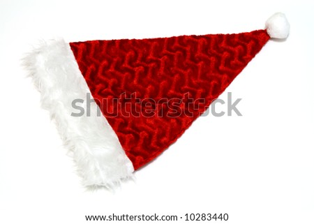 santa claus hat on a white surface