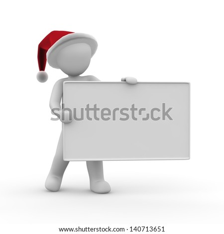 Santa Claus holds a plate in his hands.
