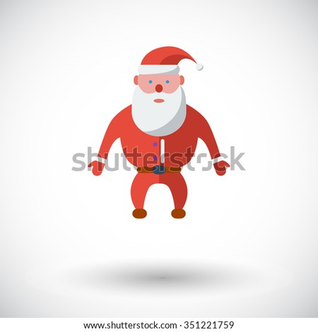 Santa Claus icon. Flat related icon for web and mobile applications. It can be used as -pictogram, icon, infographic element. Illustration. - stock photo