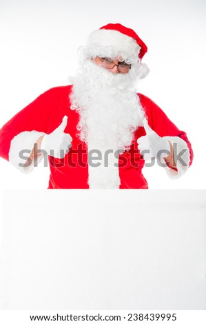 Santa Claus in his traditional costume