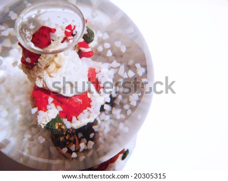 Santa Claus in the sphere on the white background