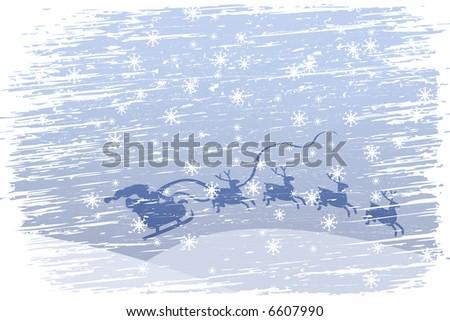 Santa Claus is coming - stock photo