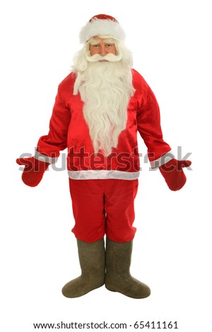 Santa Claus  isolated over white.