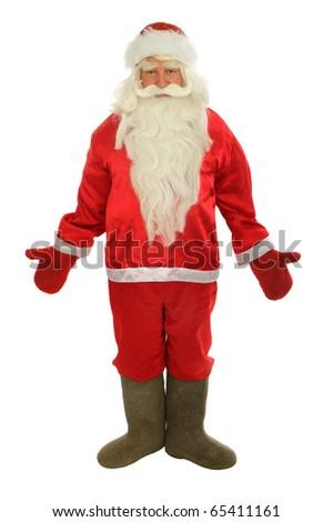 Santa Claus  isolated over white. - stock photo
