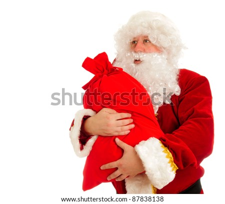 Santa Claus isolated over white