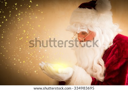 Santa Claus magic. Christmas holiday concept - stock photo