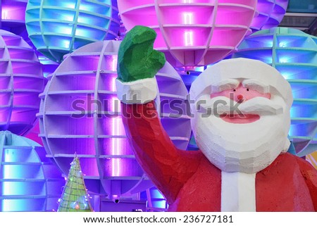 Santa Claus model for decorate Christmas time - stock photo
