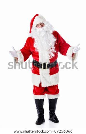 Santa Claus on a white background - stock photo