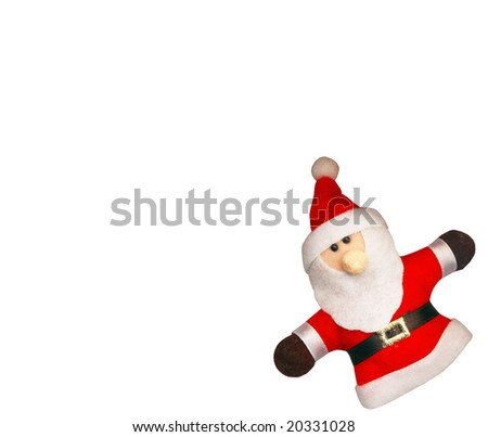 Santa Claus on the white background, with clipping path