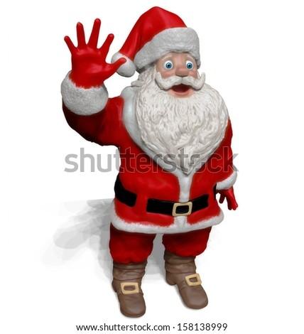 Santa Claus on white background - stock photo