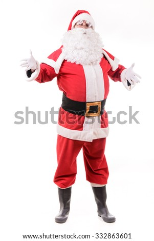 Santa Claus on white background - stock photo