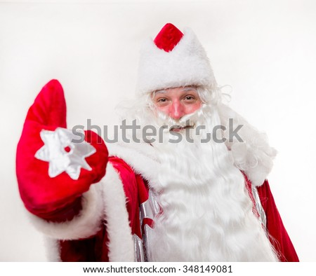 Santa Claus on white background. Isolated