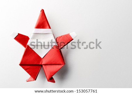 Santa claus,paper craft. - stock photo