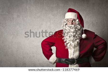Santa Claus posing - stock photo