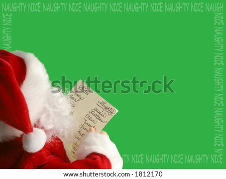 Santa Claus reads the list of who's been naughty or nice