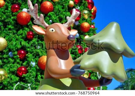 Santa Claus' Reindeer - Christmas Decorations