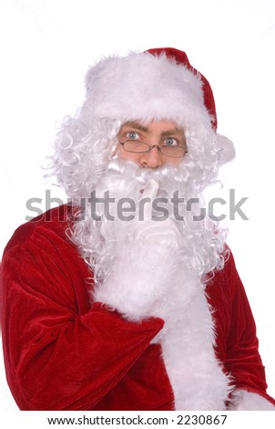 Santa Claus says......Shhhhhhhhhhhh - stock photo