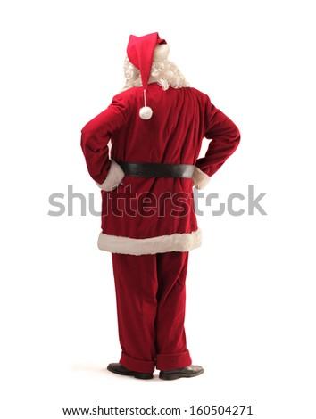 Santa Claus shot from behind - stock photo