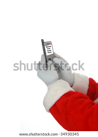 Santa Claus Text Messages isolated on white room for text - stock photo