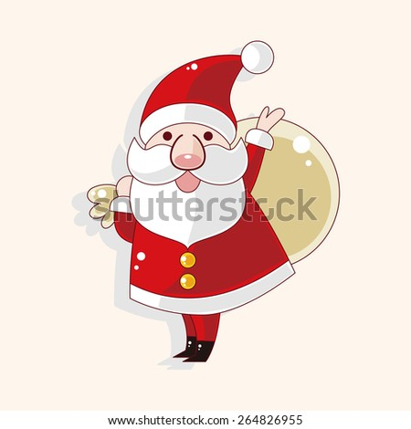 santa claus theme elements