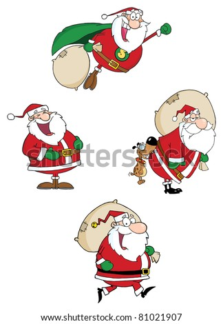 Santa Claus  Waving A Greeting.Raster Collection.Vector version is also available - stock photo