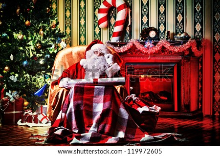 Santa Claus Fireplace Stock Photos Images Amp Pictures