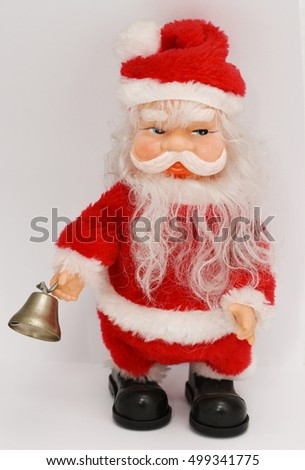 Santa Claus with silver bell , doll