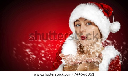 Santa claus woman and xmas time
