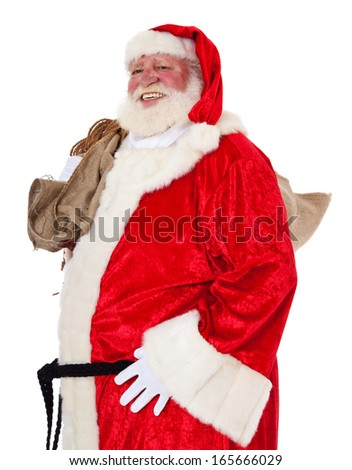 Santa Clause. All on white background.