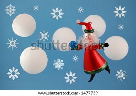 Santa coming to town - stock photo