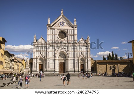 Santa Croce - Florence, Italy - stock photo