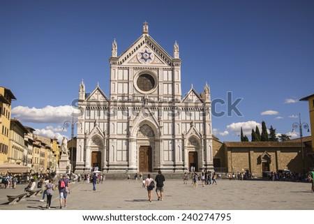 Santa Croce - Florence, Italy - stock photo
