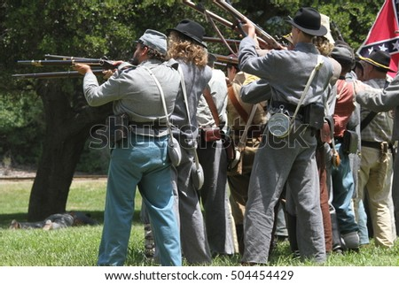 Santa Cruz, California: 4/8/2014: Civil War Reenactment