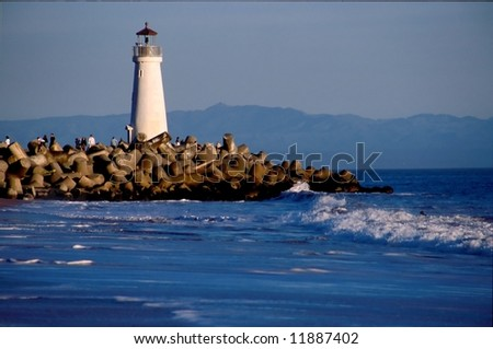 Santa Cruz Harbor - Located at the northern end of the Monterey Bay, the Santa Cruz Harbor is a haven for fishing craft and vessels. - stock photo