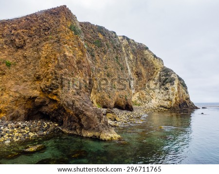 Santa Cruz Island is the largest of the eight islands in the Channel Islands located off the coast of California. - stock photo