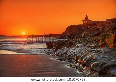 Santa Cruz State Beach - stock photo