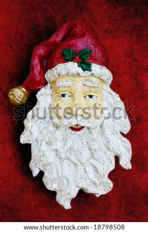 Santa decoration with textured background - stock photo